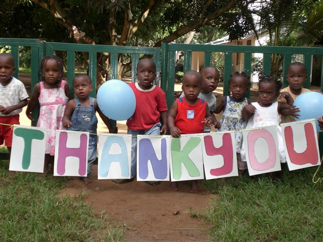 Forever Angels children saying thank you